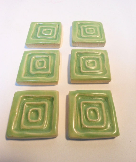 Lime Green Square Mosaic tiles