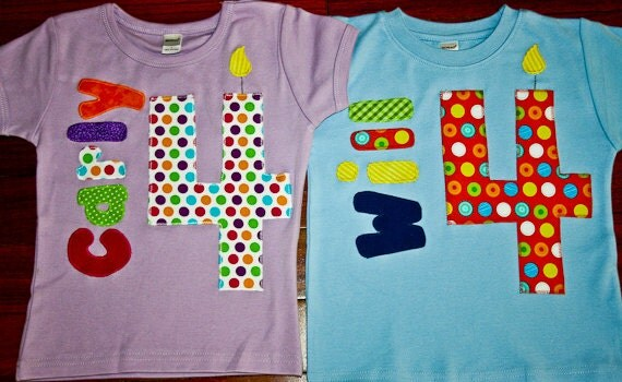 Items similar to twin birthday shirts personalized for Toddler custom t shirts no minimum