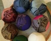 Silk Tie Fabric Ball- Paisleys