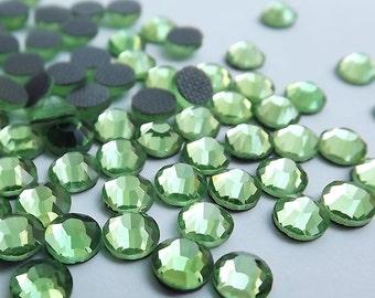 PERIDOT Glass Rhinestones 20ss 5mm Flatback Hotfix 1 Gross 144 Pcs