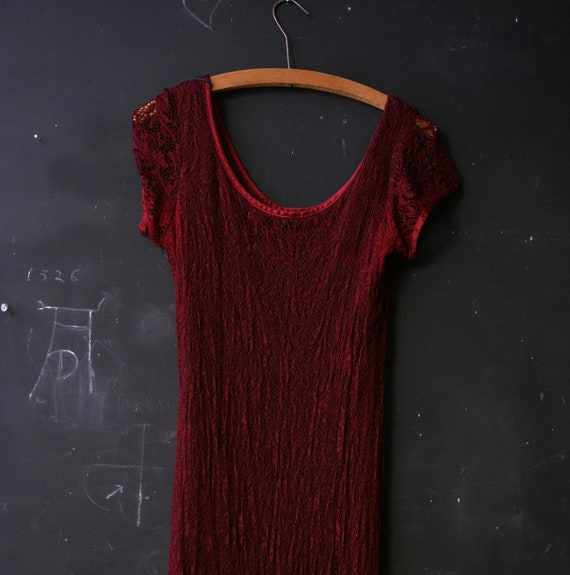 Please Reserve this is the last payment on this Dress for Deja  Maxi OxBlood Red Knit Lacy