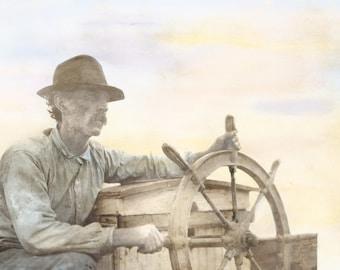 Fishing the Bay, circa 1899