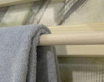 """unfinished 24"""" towel or quilt bar rod for bathroom or bedroom"""