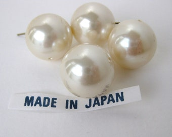 Vintage Beads Faux Pearl Large Ivory Rounds 18mm vgp0298 (4)