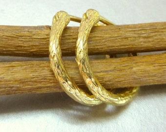 Gold Huggie Earrings.  14k gold hoops.