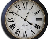 Large Wall Clock 36in MANCHESTER LINEN or TAN Gallery Antique Style Clocks Family Heirloom