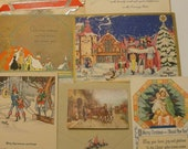 Set of Beautiful Vintage Christmas Post Cards
