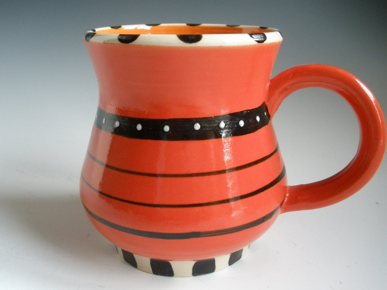 Ceramic Cup Red Coffee Cup Light Red Mug Red And Orange