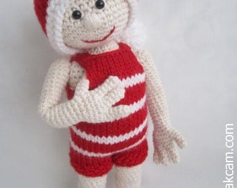 Crocheted Christmas Doll