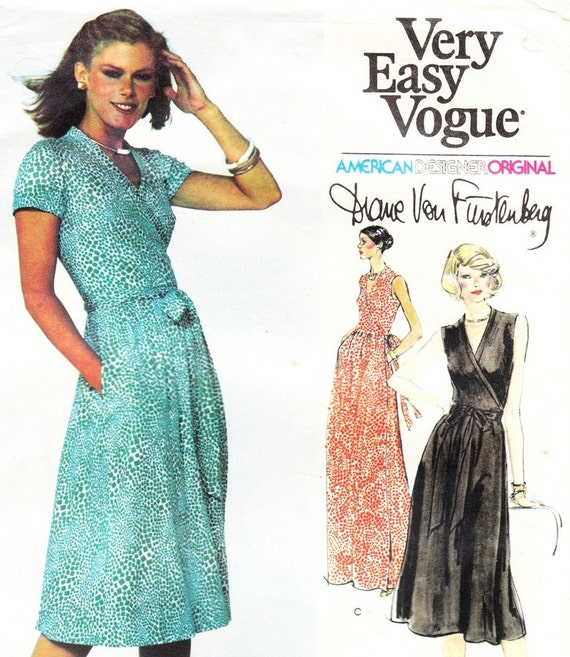 Vintage Diane Von Furstenberg Wrap Dress Pattern by glassoffashion