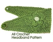 PATTERN - Fast Crochet Headband Kayla Bulky Weight Yarn Two Sizes