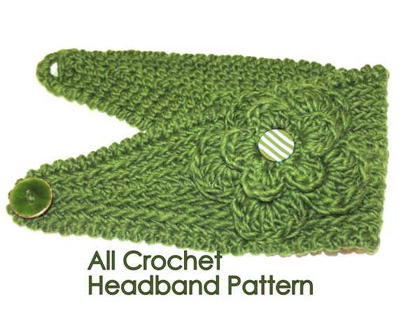Crochet Patterns By Yarn Weight : PATTERN - Fast Crochet Headband Kayla Bulky Weight Yarn Two Sizes