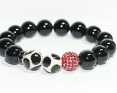 Reserved for LaGretchen Black Onyx Gemstone Bracelet
