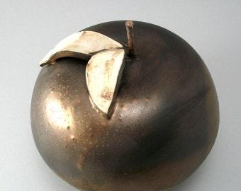 Ceramic Apple, Pottery Apple, Ceramic Sculpture, Home Decor