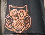 Cutest Women's Owl Shirt (Faded Glory brand size LG 12-14)