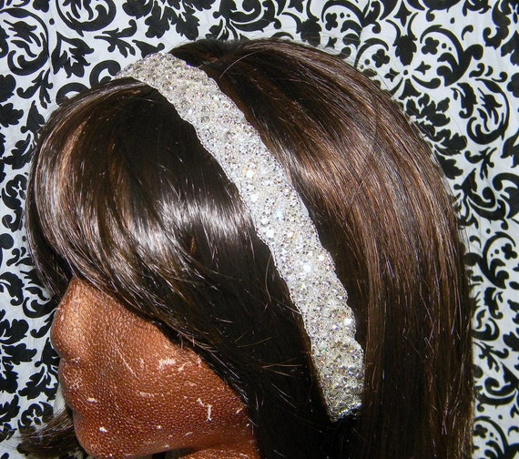 Rhinestone Bridal Headband - Rhinestone Headband or Sash - The Kelley - Bridal Headpiece