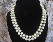 HATTIE CARNEGIE Faux Pearl Necklace Signed Vintage