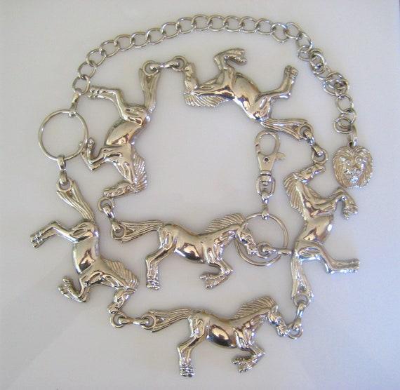 Vintage Horse Belt Silvertone - All the Pretty Horses