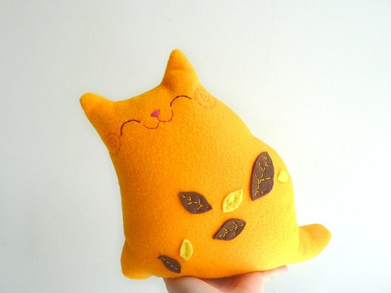 Plush Cat, Cat Doll, Stuffed Cat, Cat Plush - Autumn Kitty