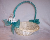 Jade/Teal Flower Girl Baskets