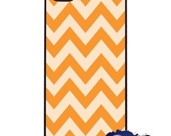 Orange Creamsicle Chevron - iPhone Cover, Case