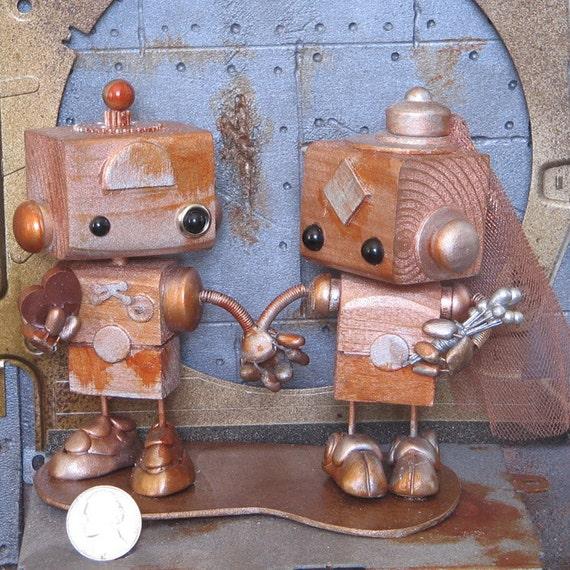 Steampunk Robots Cake Topper 10