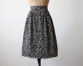 vintage star print skirt