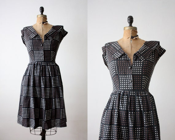 1950's dress - polka dot day dress