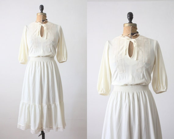 1970s dress- bohemian day dress