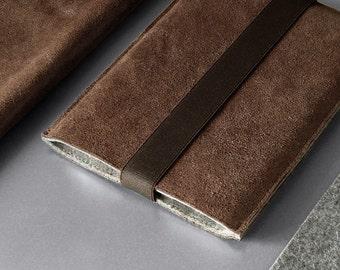 iPad Mini sleeve BROWNIE leather and felt sleeve German wool felt