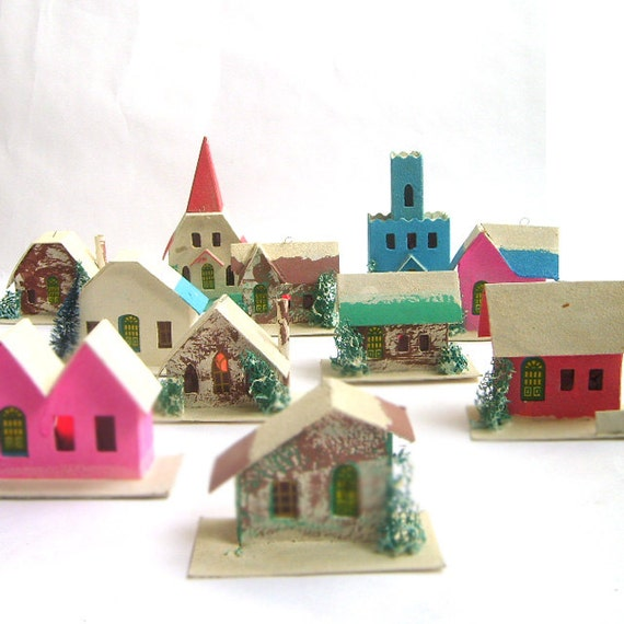 Mid century christmas decor alpine village by for Alpine decoration