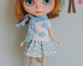 Blue clouds set, for Blythe dolls.