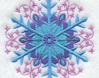 Suzani Snowflake Arabesque Embroidered Terry Kitchen Towel  Bathroom Hand Towel