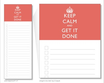 keep calm and get it done // notepad // red // list // to do // lines // checkbox // skel // skel design // skel & co