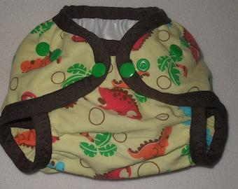 Dinosaur PUL diaper cover
