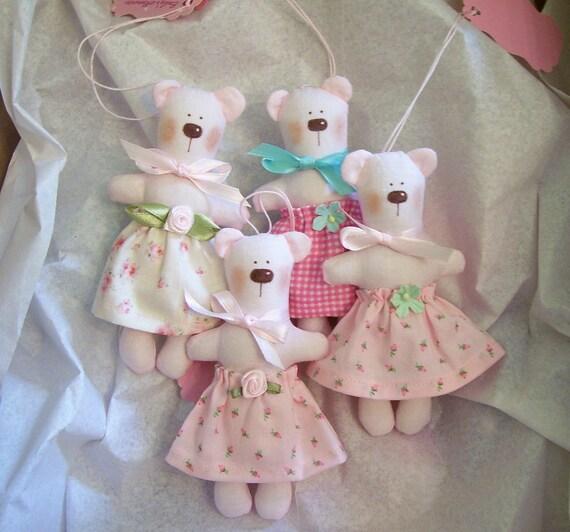 Sweet Little Pale Pink Miniature Bear for Your Blythe, Liv, Barbie, Secret Friend,etc.