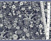 "Cotton Fabric  ""Lotus"" in Navy  From Timeless Treasures - Navy and White always look so sharp together."