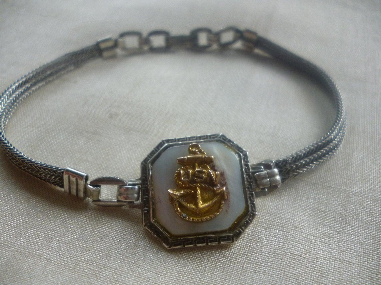 Vintage Wwii U S Navy Sweetheart Bracelet By