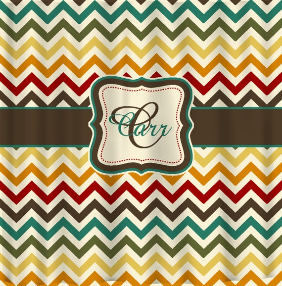 Items Similar To Shower Curtain Multi Color Chevron Any Colors Of Your Cho