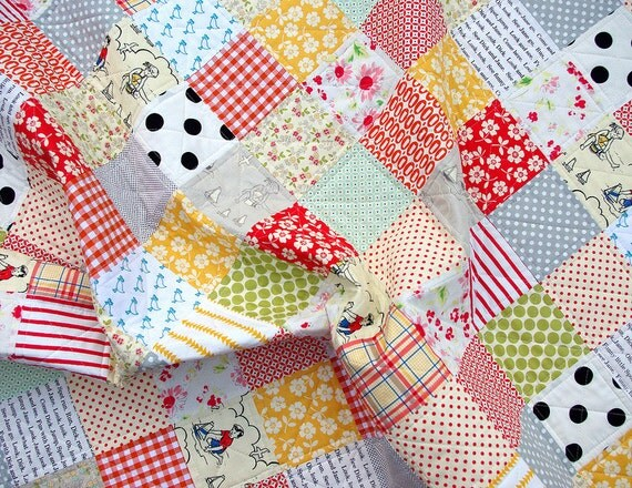 Modern and Colorful Patchwork Quilt