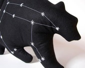 Ursa Major Constellation- The Great Bear in Black- Glow in the Dark