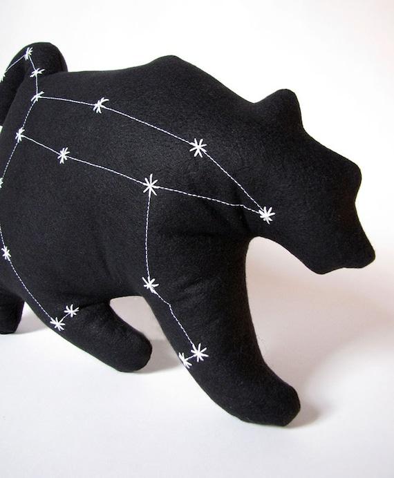 Ursa Major Constellation- The Great Bear in Black- Glow in the Dark