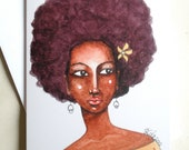 African American Greeting Card - 'At First Glance'