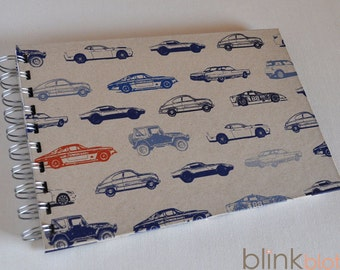 Birthday Interview Book Journal for kids -blue cars paper cover