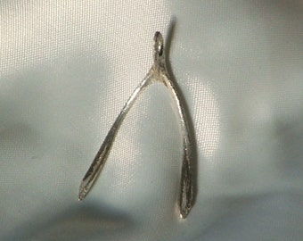 WISHBONE-Sterling Silver Pendant- Ready to Ship