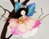 Pink Angel Ornament, Miniature Angel Doll Ornament, Pink Fairy Gift, Angel Christmas, Angel Gift, Pink Christmas, Angel Princess