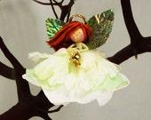 Christmas Angel Ornament Doll, Holiday Green Fairy Angel, Christmas, Flower Angel Doll Ornament