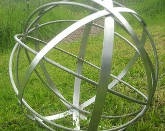 Stainless Steel Metal Garden Art Sphere Handmade 22""