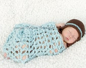 Glacier Loose stitch Chunky Mini Blanket or Wrap (or pick your own color)