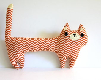 Stuffed toy cat, plush cat, cat softie, plush toy cat, Creamsicle the cat, cat stuffie, cat doll, gifts for kids, cat pillow